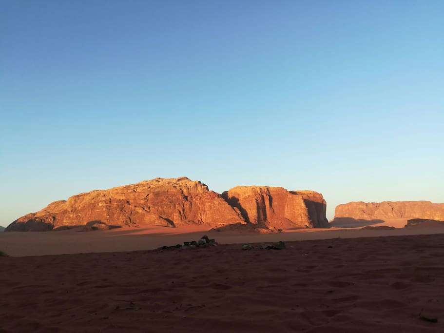 The morning view from our Bedouin camp