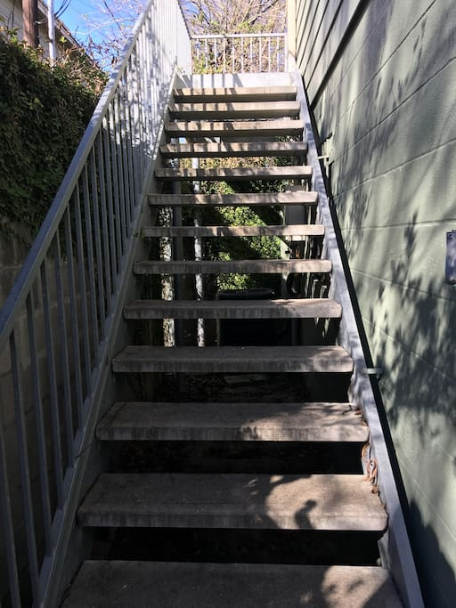 Steps to apartment.