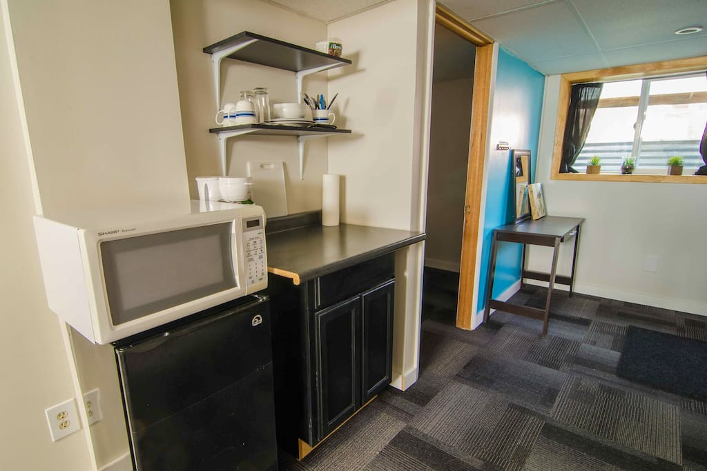 Entry and kitchenette
