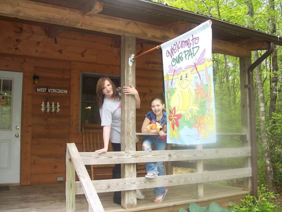Welcome to the West Virginian cabin at Country Road Cabins in Hico, WV
