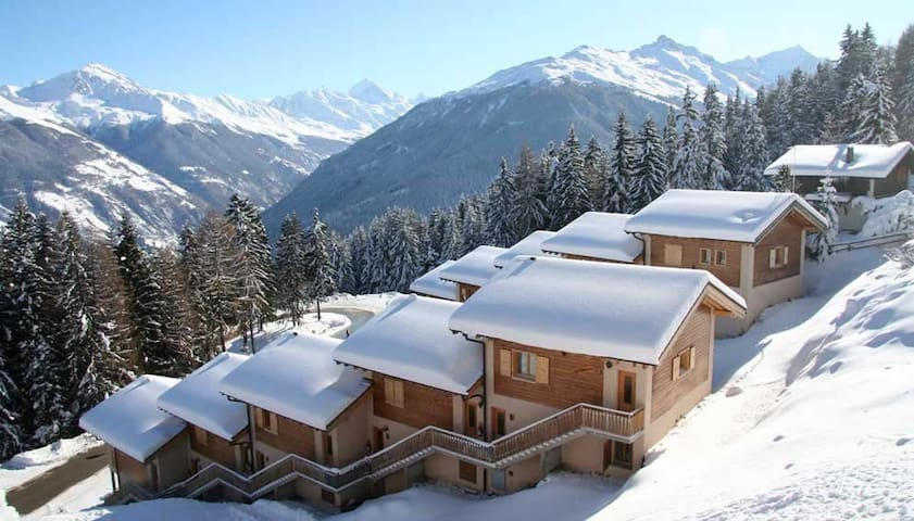 Chalet, Ski in/out, 12 Pers, Sauna - Vex - Rumah