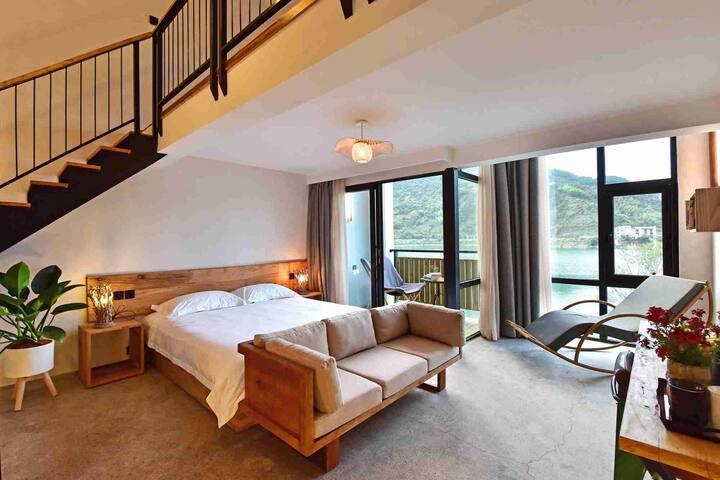 桂月|满庭岩桂蔼香风,人在画堂中。|湖景美式Loft设计家庭房