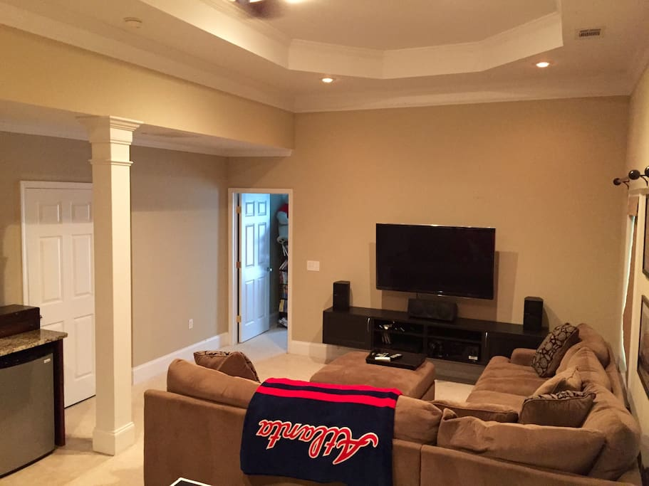 Another angle of great room.  Minifridge, and entrance to bedroom shown here.