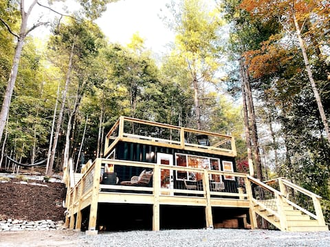 Tiny Sustainer- Hot Tub, Fire Table, Outdoor Oasis