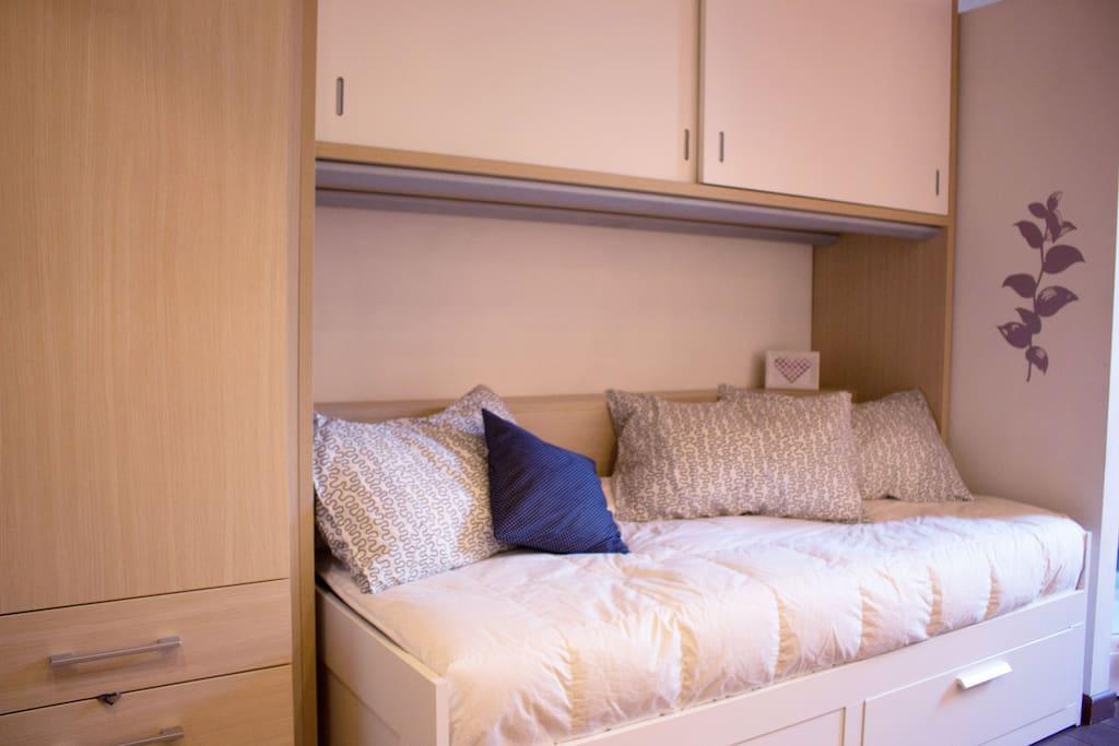 Sleeping single bed