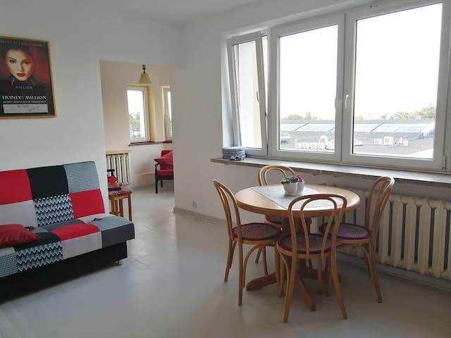2 rooms + kitchen + bathroom + wc,    ap. 54 m2