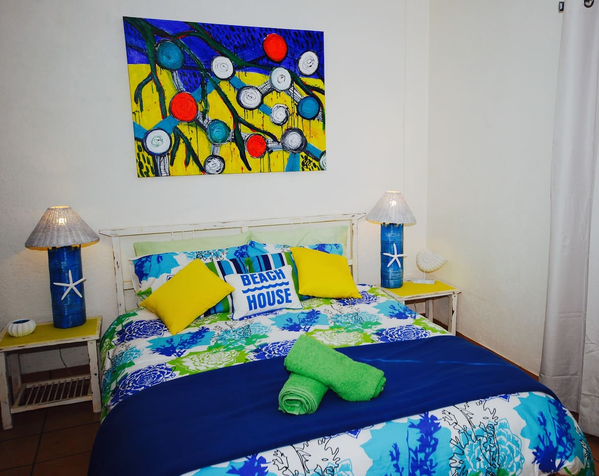 Lime Cottage- an upstyled beach cottage full of bright colours.