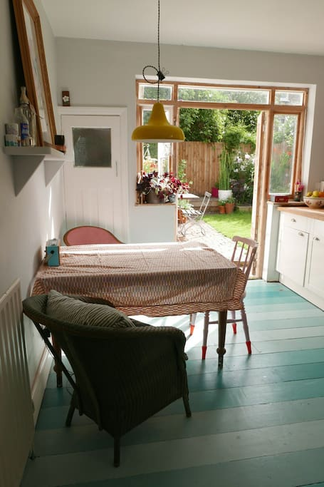 Lovely sunny kitchen in the  morning