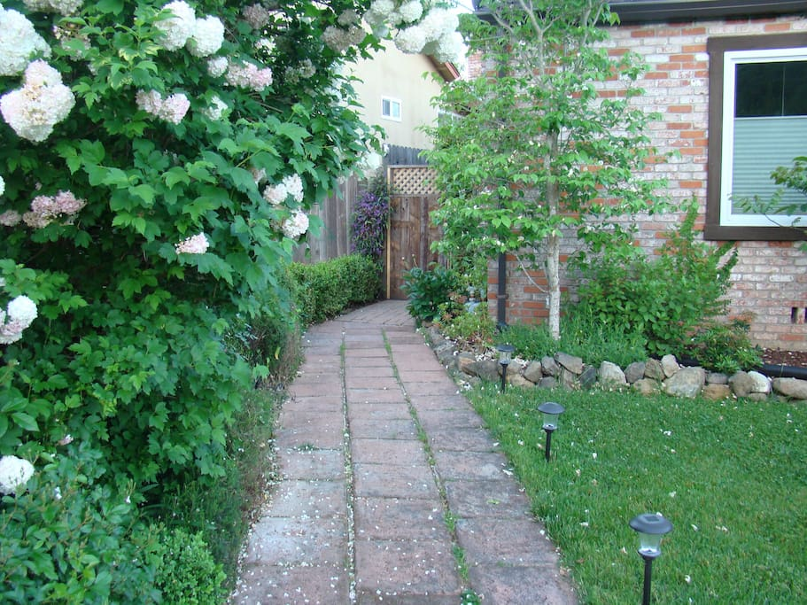 Street view walkway to Guest House