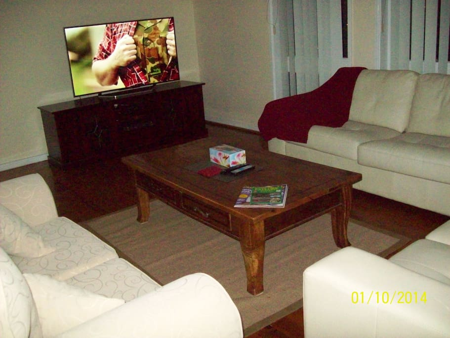 Sitting room large screen TV