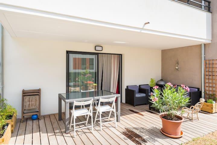Rez-de-Jardin en bord de Saône - Fontaines-sur-Saône - Apartamento
