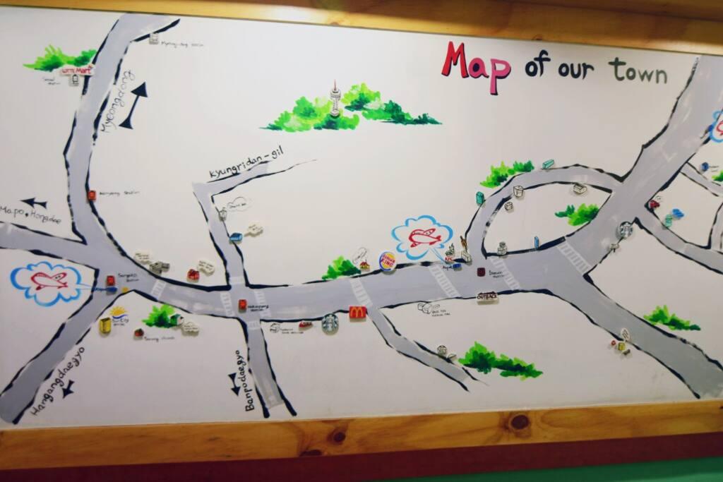 Seoul local area map