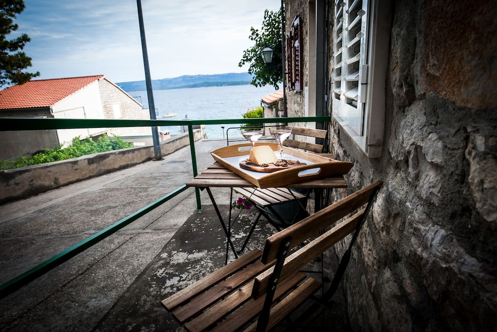 small terrace with sea view