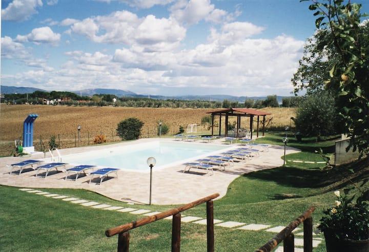 Apartment with view on the Trasimeno lake.