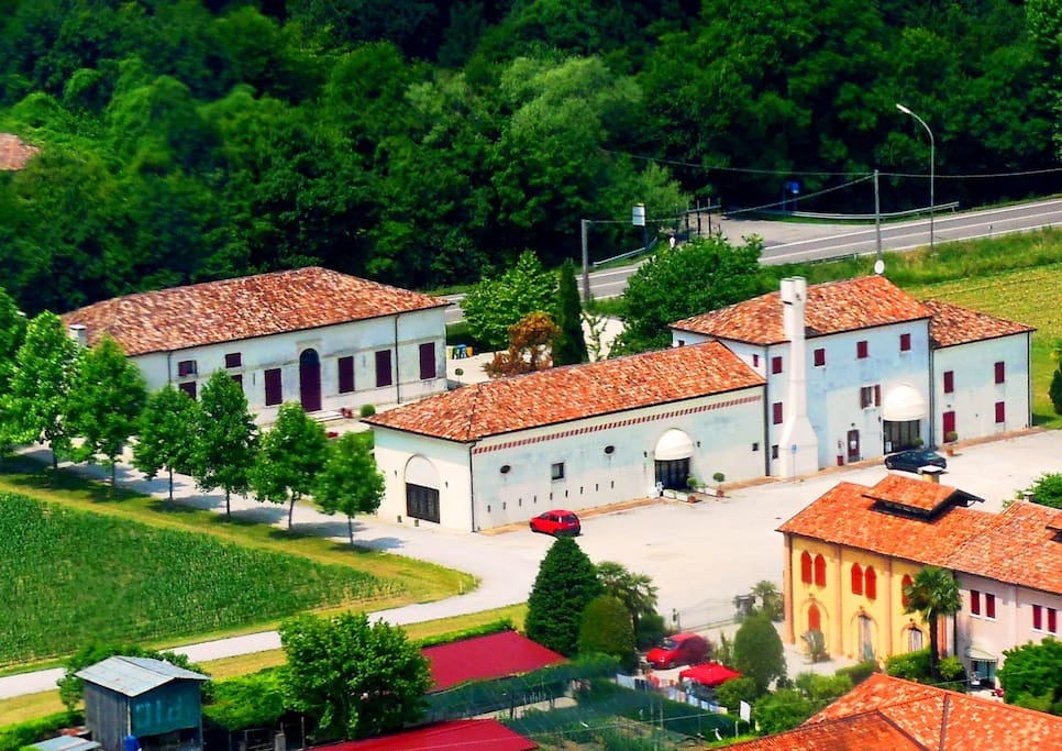 VILLA QUERINI FROM HELICOPTER