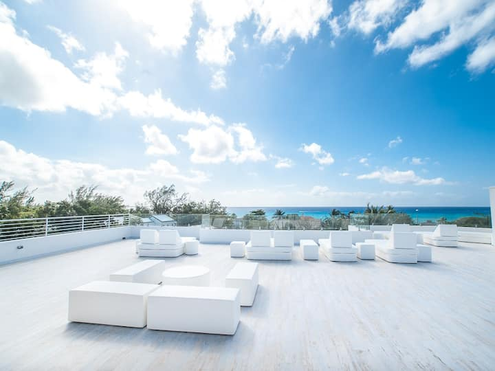 Amazing 7 Mile Beach views from Roof Terrace P2