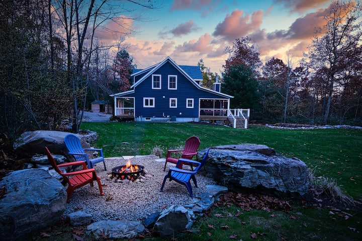 NEW! Modern Farmhouse with Catskill Mountain View