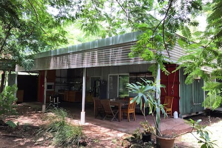 Funky renovated sea container house - Howard Springs