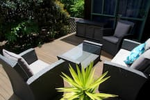 Deck For guests to relax on.