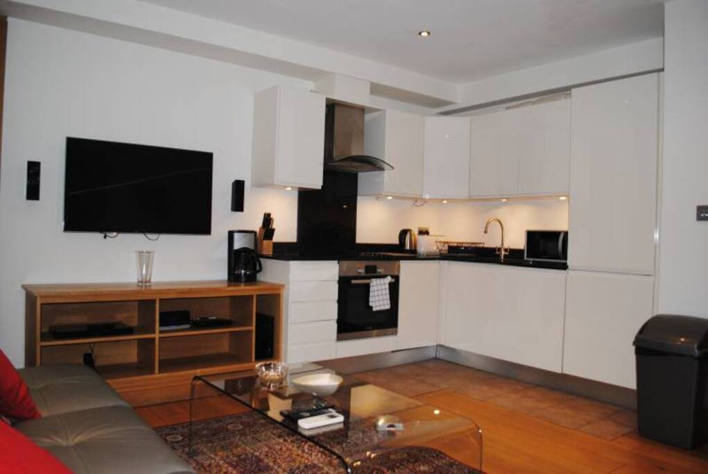 Open plan kitchen + Living area