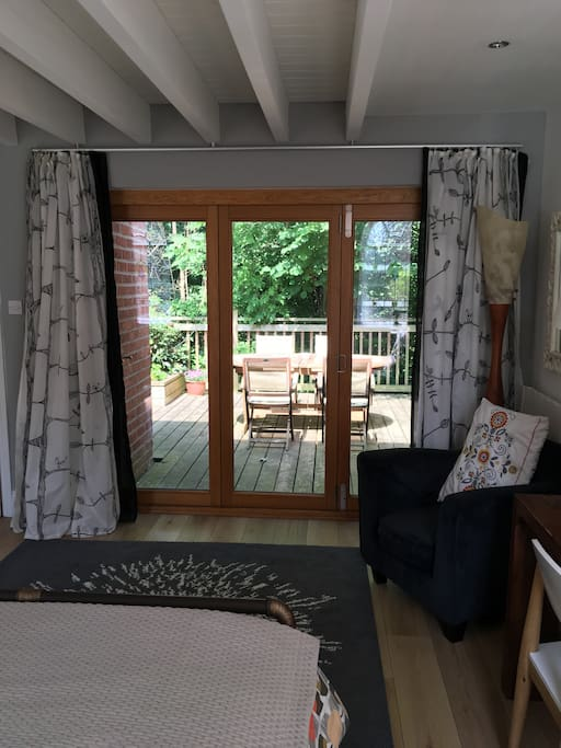 Bifold doors looking out to the private deck