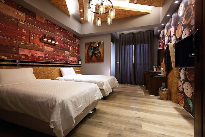 工業時代1號標準雙人房(twin or Queen size) - Xincheng Township - Apartment