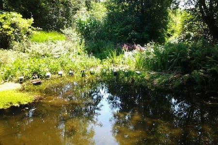 vrijstaande zonnige tuinkamer met zicht op vijver - Hasselt