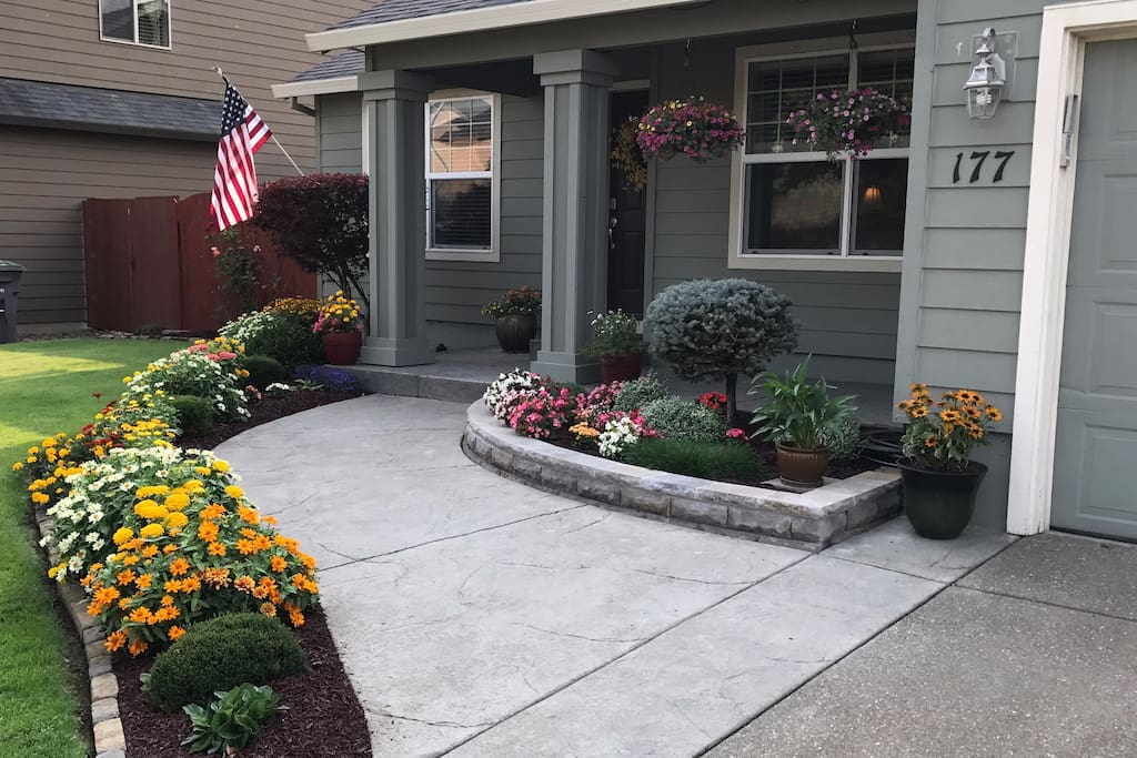 Front walk during August