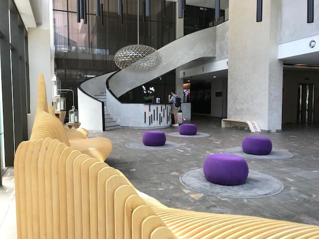 The lobby of Empire Damansara