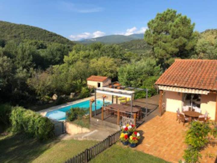 Luxury air conditioned private villa, pool, views.