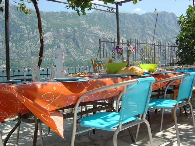 Kotor Waterfront Villa fiord with jetty (6-14 pax)