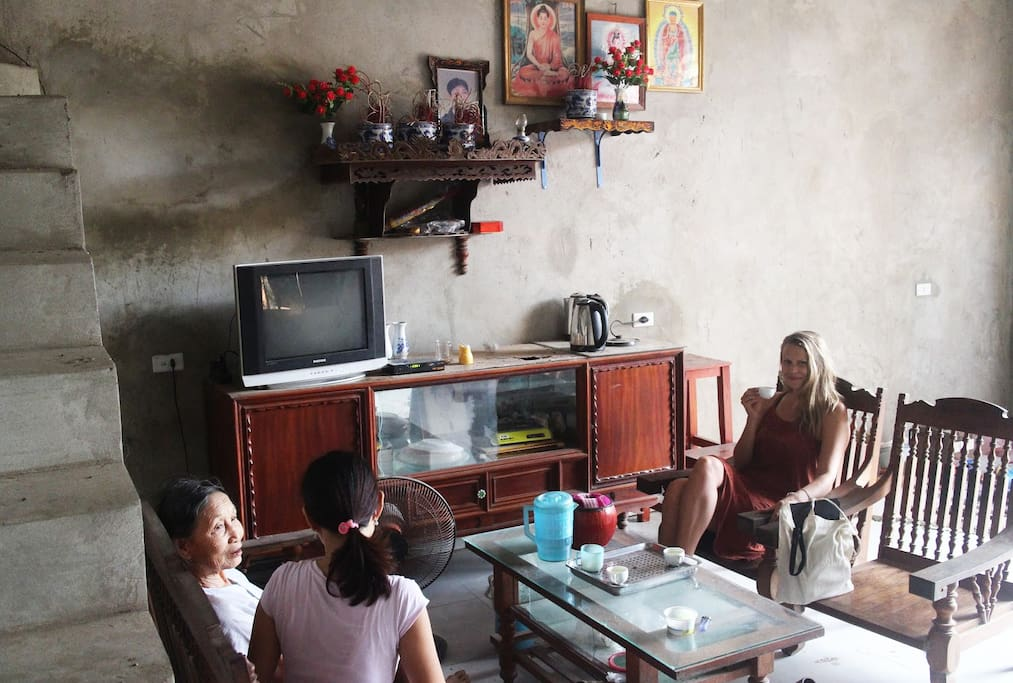 This is one of the hosting families of the village.