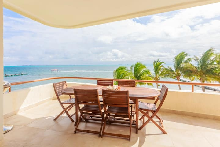 Isla Mujeres Style Spacious Oceanfront 3bd 2bth Villa Private Beach Outdoor Pool TOP AMENITIES