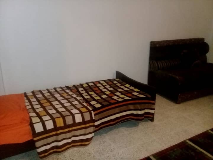 Family room in bedouin family home