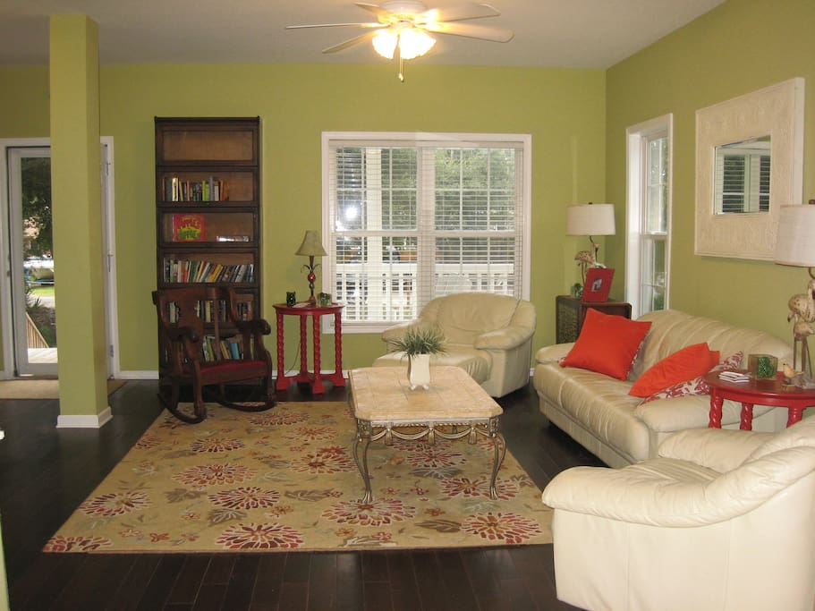 Another view of the living/family room.