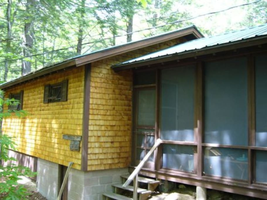 bunkhouse and screened porch