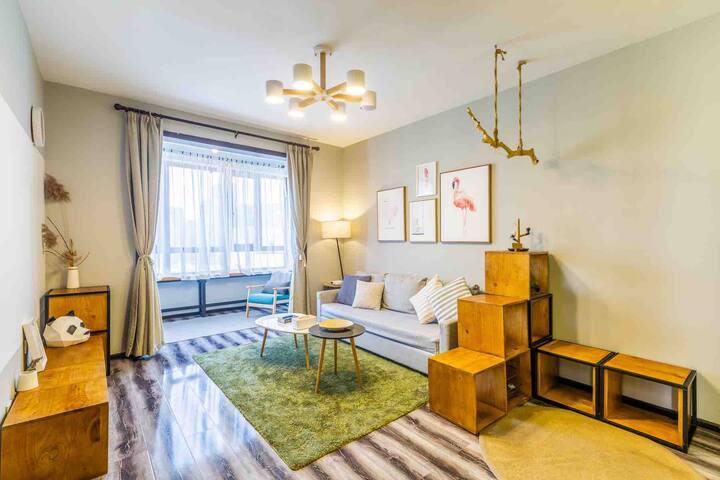一处【江边暖室】观江!高清投影!一室一厅 中央大街600米 天台俯瞰哈尔滨!可提供出行及旅游服务!