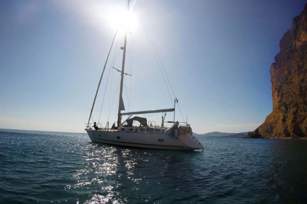 Disfrute y relax en velero