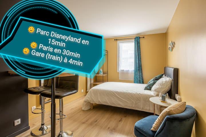 COSY 💥N-Guessan💥Studio -RER A 4min PARIS/\DISNEY
