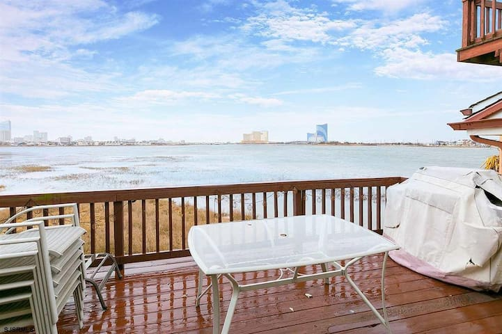 WATERFRONT home with 2 private LARGE decks!