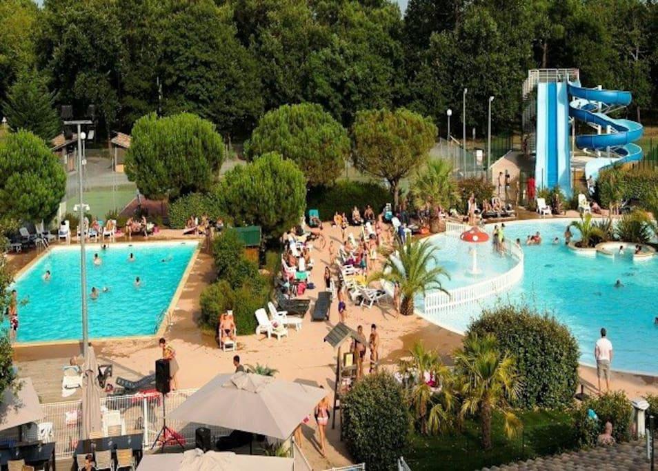 Chalet dans un domaine avec piscine chalets for rent in for Cash piscine la teste de buch