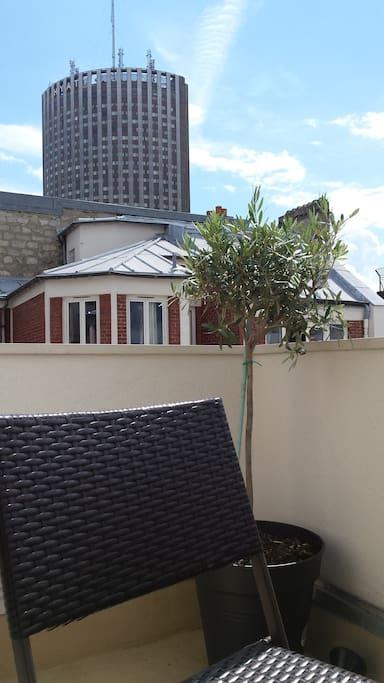 Balcon aux oliviers avec vue panoramique