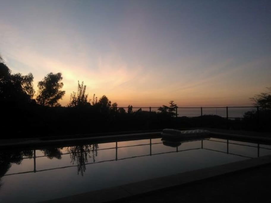 Sunrise by the pool