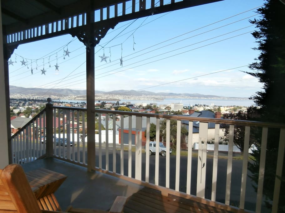 from the verandah. looking over city, harbour & river - only a few minutes drive away