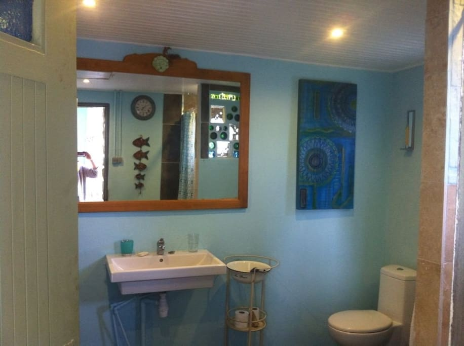 this is the wet room with shower and loo, we provide towels etc
