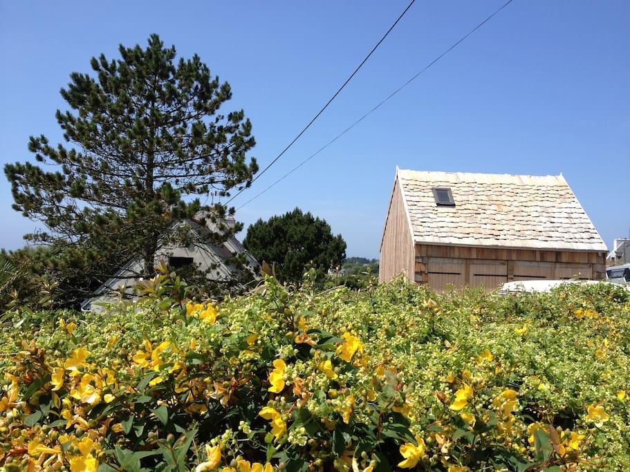 La chambre d'hôtes, un petit nid douillet et écologique sous les toits.