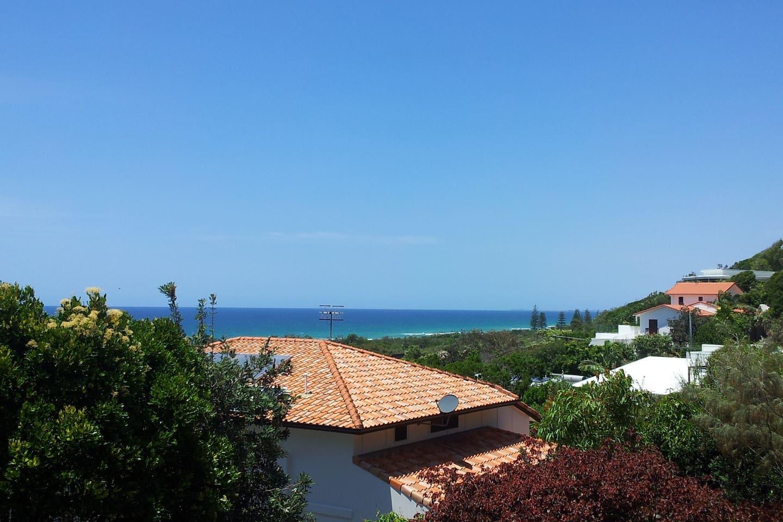 Great ocean view from first floor balcony