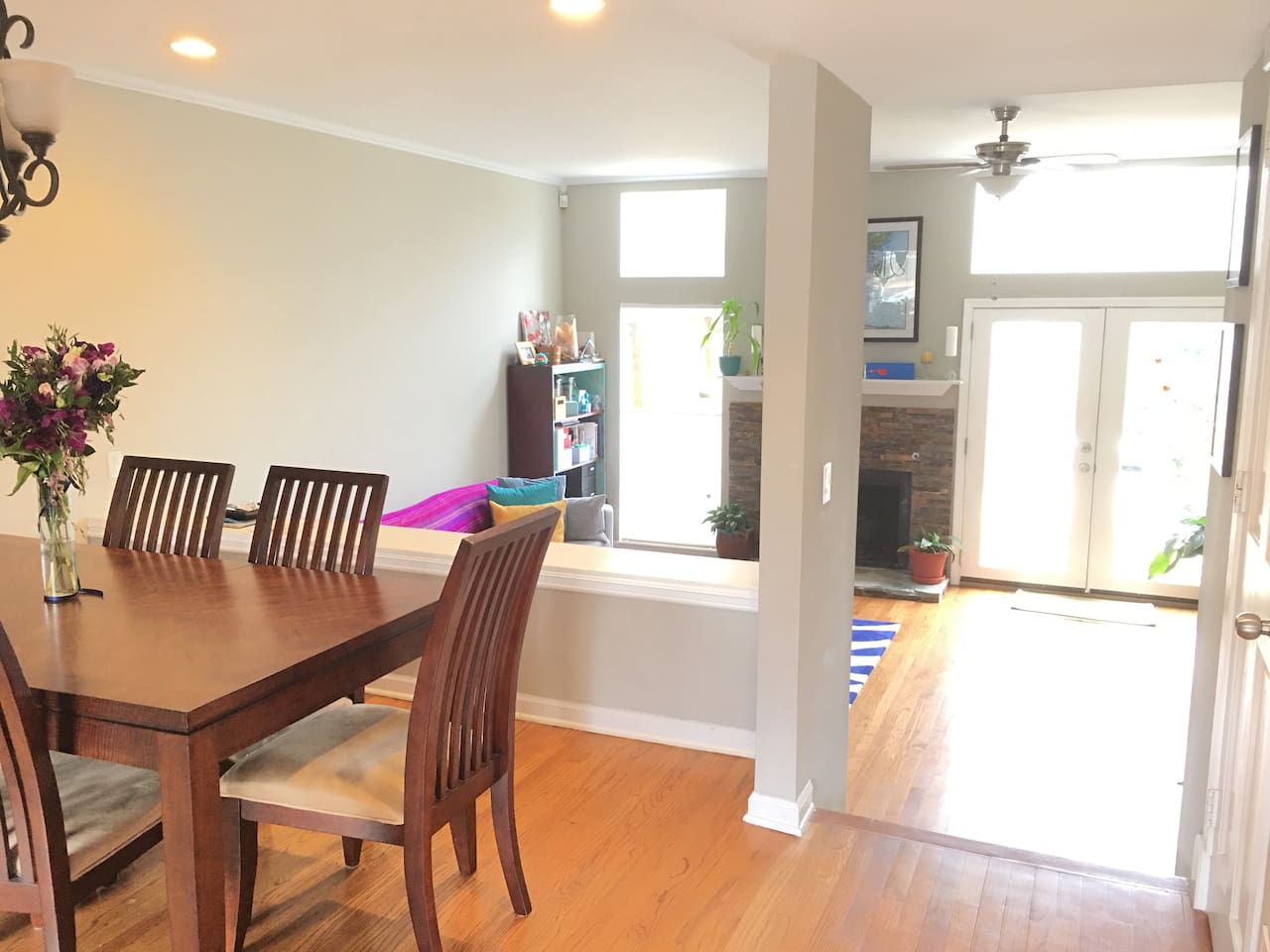 Whole house is yours. Open floor plan to living room & Outdoor dining with beautiful natural light.