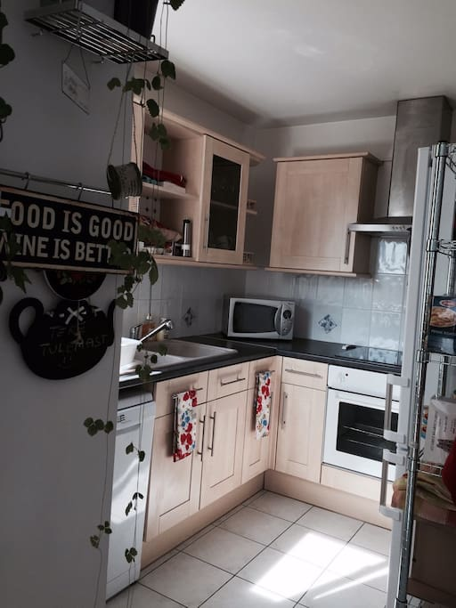 Fully equipped kitchen on the open main room