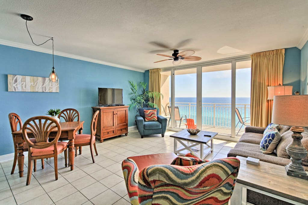Lounge in the spacious living room and marvel at the ocean views.